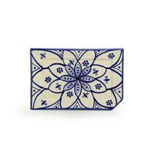 Load image into Gallery viewer, 'Moroccan Floral' Hand-painted Studio Pottery Serving Platter In Ceramic (Microwave Safe)