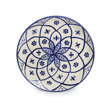Load image into Gallery viewer, 'Moroccan Floral' Hand-painted Studio Pottery Dinner Plates In Ceramic (10 Inch, Set of 2, Microwave Safe)