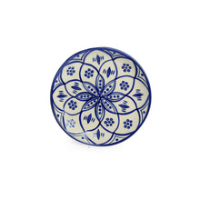 Load image into Gallery viewer, 'Moroccan Floral' Hand-painted Studio Pottery Quarter Plates In Ceramic (7 Inch, Set of 2, Microwave Safe)