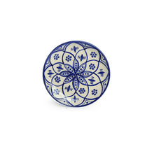 Load image into Gallery viewer, 'Moroccan Floral' Hand-painted Studio Pottery Quarter Plates In Ceramic (7 Inch, Set of 6, Microwave Safe)