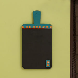 'Turquoise Blue Hand-painted' Kitchen Chalkboard