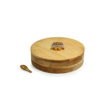 Load image into Gallery viewer, 'Rainbow Owl Motif' Spice Box With Spoon In Mango Wood (7 Detachable Containers, 70 ML)
