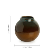 Load image into Gallery viewer, 'Amber & Teal' Studio Pottery Vases In Ceramic (Set of 2)