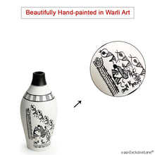 Load image into Gallery viewer, 'The Warli Tales' Hand-Painted Vases In Terracotta (Set of 3, White)