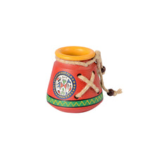 Load image into Gallery viewer, Terracotta Warli Handpainted  Pen Stand Knitted Red