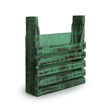 Load image into Gallery viewer, 'Rustic Messengers' Antique Finish Wall Magazine Stand In Mango Wood