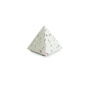 'The Pretty Prism' Handcrafted Terrazzo Pyramid Paperweight In Concrete