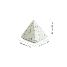 Load image into Gallery viewer, 'The Pretty Prism' Handcrafted Terrazzo Pyramid Paperweight In Concrete