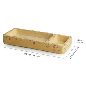 'Case of Cuboid' Handcrafted Terrazzo Stationery Organiser Tray & Knick Knack Holder In Concrete