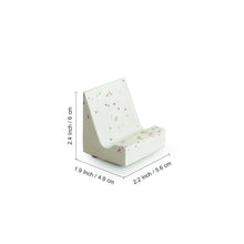 Load image into Gallery viewer, 'The White Essential' Handcrafted Terrazzo Card Holder & Mobile Stand In Concrete