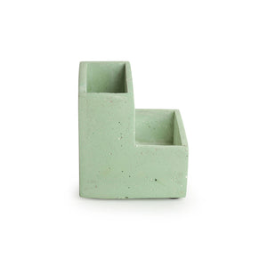 'The Charming Cubicles' Handcrafted Terrazzo Stationery Table Organiser In Concrete