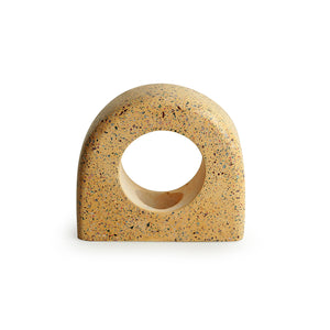 'The Glowing Holder' Handcrafted Terrazzo Tea Light Holder In Concrete
