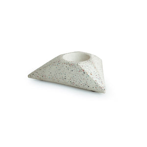 'The Radiating Trio' Handcrafted Terrazzo Tea Light Holder In Concrete