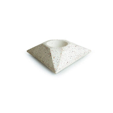 Load image into Gallery viewer, 'The Radiating Trio' Handcrafted Terrazzo Tea Light Holder In Concrete