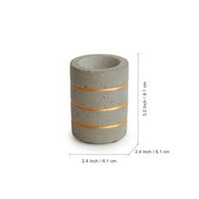 Load image into Gallery viewer, 'Golden Glowing Rings' Handcrafted Terrazzo Tea Light Holder In Concrete