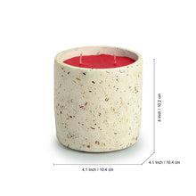 Load image into Gallery viewer, 'The White Rose' Scented Wax Candle In Terrazzo & Concrete