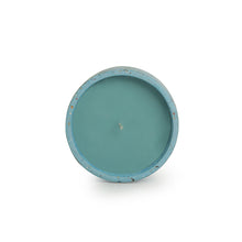 Load image into Gallery viewer, 'The Blue Lotus' Scented Wax Candle In Terrazzo & Concrete