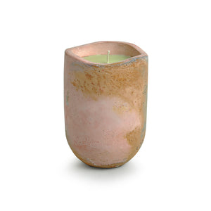'The Pinkish Lavender ' Scented Wax Candle In Concrete