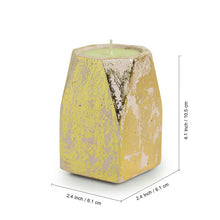 Load image into Gallery viewer, 'Golden-Sandalwood' Scented Wax Candle In Gold Foil & Concrete