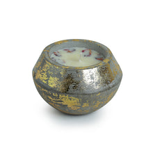 Load image into Gallery viewer, 'The Golden Rose' Scented Wax Candle In Gold Leaf & Concrete