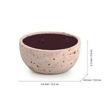 Load image into Gallery viewer, 'The Pinky Poem' Scented Wax Candle In Terrazzo & Concrete