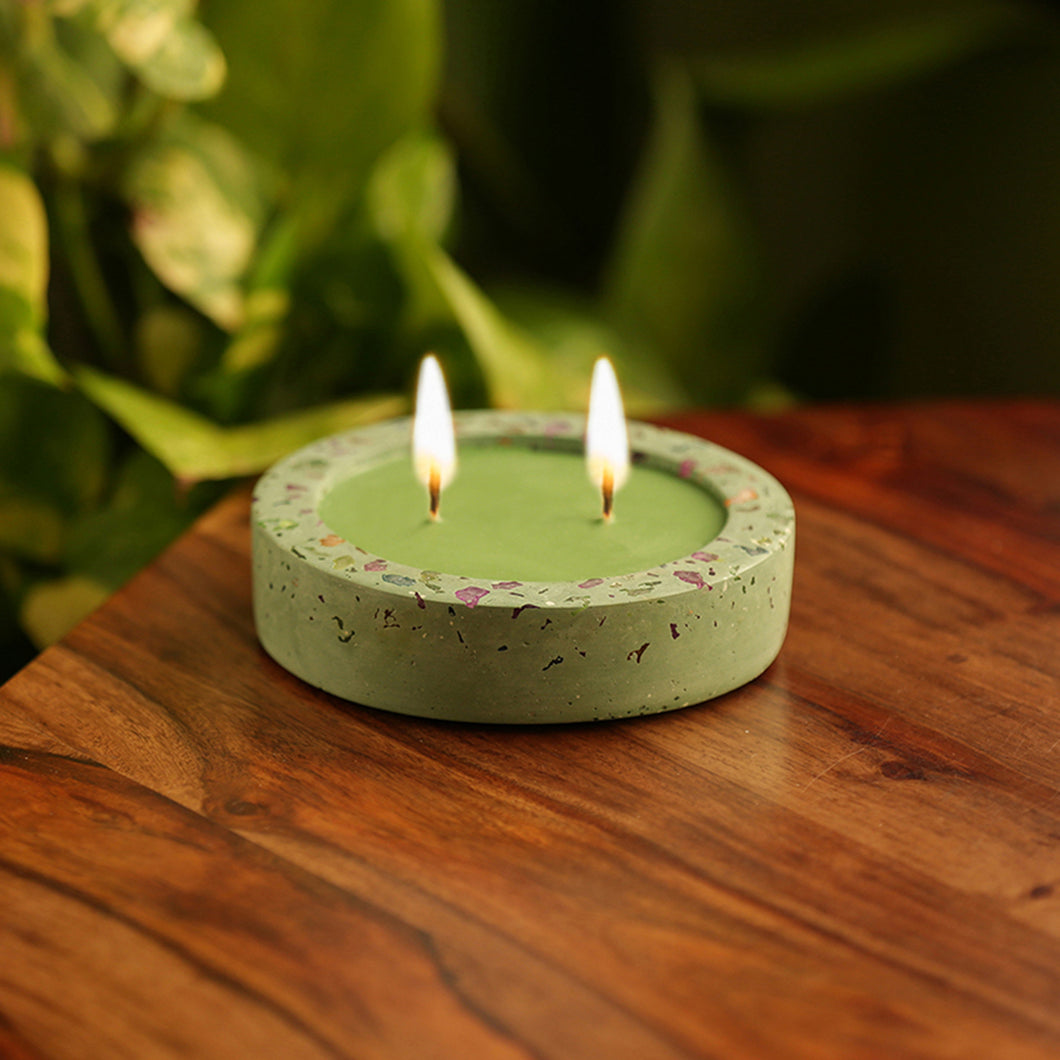 'The Neon Tree' Scented Wax Candle In Neon Chips & Concrete