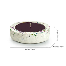 Load image into Gallery viewer, 'The Neon Rose' Scented Wax Candle In Neon Chips & Concrete