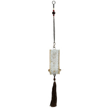 "Load image into Gallery viewer, ""Rustic Mughal Leaf Drop"" Handcrafted Hanging Tea-Light Holder In Iron"