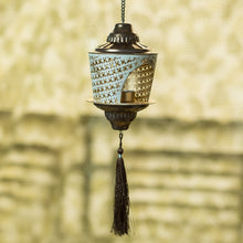 "Load image into Gallery viewer, ""Rustic Mughal Shade"" Handcrafted Hanging Tea-Light Holder In Iron"