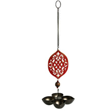 "Load image into Gallery viewer, ""Rustic Mughal Diya"" Handcrafted Tea-Light Holder & Hanging Diya In Iron (4 Diyas)"