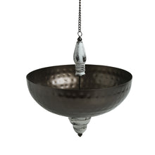 "Load image into Gallery viewer, ""Antique Hammered"" Handcrafted Hanging Tea-Light & Flower Urli In Iron"