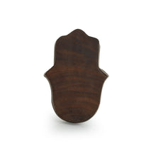 "Load image into Gallery viewer, ""Radiant Palm"" Hand-Carved Block Tea-Light Holder In Sheesham Wood"