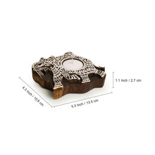"Load image into Gallery viewer, ""Dazzling Elephant"" Hand-Carved Block Tea-Light Holder In Sheesham Wood"