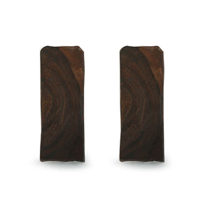 """Splendid Candle"" Hand-Carved Blocks Tea-Light Holders In Sheesham Wood (Set of 2)"