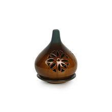 Load image into Gallery viewer, 'Amber & Teal' Studio Pottery Table Tea-Light Holder In Ceramic