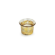 Load image into Gallery viewer, Golden Buckets Glass Tea-Light Holder (Set of 4)