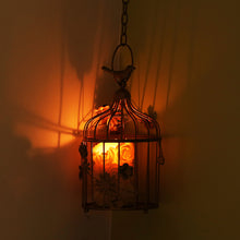 Load image into Gallery viewer, Bronze Birdie Handcrafted Birdcage Table & Hanging Candle Holder In Iron