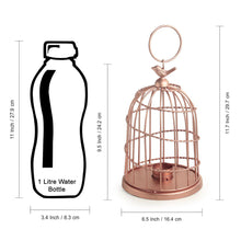 Load image into Gallery viewer, 'The Bird Wired Go-Round' Handwired Hanging & Table Tea-Light Holder In Iron (9 Inch, Copper Finish)