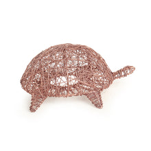 Load image into Gallery viewer, 'The Turtle Mesh' Handwoven Showpiece & Table Tea-Light Holder In Iron (Copper Finish)