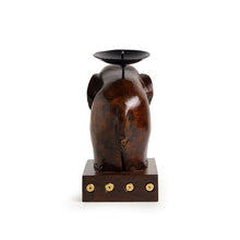 "Load image into Gallery viewer, ""Rising Trunk"" Hand Carved Table Tea Light & Candle Holder (6.2 Inch)"