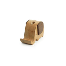 Load image into Gallery viewer, 'The Elephant Trunk' Handcrafted Mobile Stand In Sheesham & Steam Beech Wood