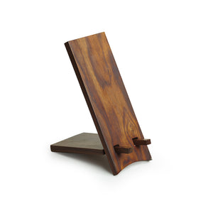 'Folding Stand' Handcrafted Mobile Stand In Sheesham Wood
