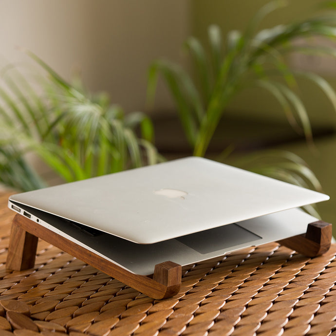 'The Brownie Lap' Handcrafted Laptop Stand In Sheesham Wood