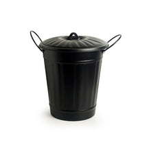 "Load image into Gallery viewer, ""Matte Black Bucket"" Multi-utility Container & Dust Bin In Iron (13 Inch)"