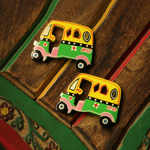 Load image into Gallery viewer, 'The Sticky Autos' Hand-Painted Fridge Magnets In Chilbil Wood (Set of 2)