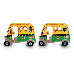 'The Sticky Autos' Hand-Painted Fridge Magnets In Chilbil Wood (Set of 2)