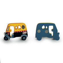 Load image into Gallery viewer, 'The Sticking Autos' Hand-Painted Fridge Magnets In Chilbil Wood (Set of 2)