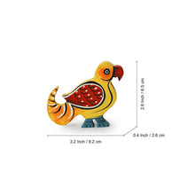 Load image into Gallery viewer, 'The Sticky Parrots' Hand-Painted Fridge Magnets In Chilbil Wood (Set of 2)