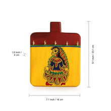 Load image into Gallery viewer, Madhubani Hand-Painted Key Holder In Pine Wood(5 Hooks)