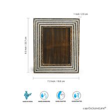 Load image into Gallery viewer, 'Framed Memories' Hand Engraved Photoframe In Mango Wood (9 x 7 Inch, Portrait)